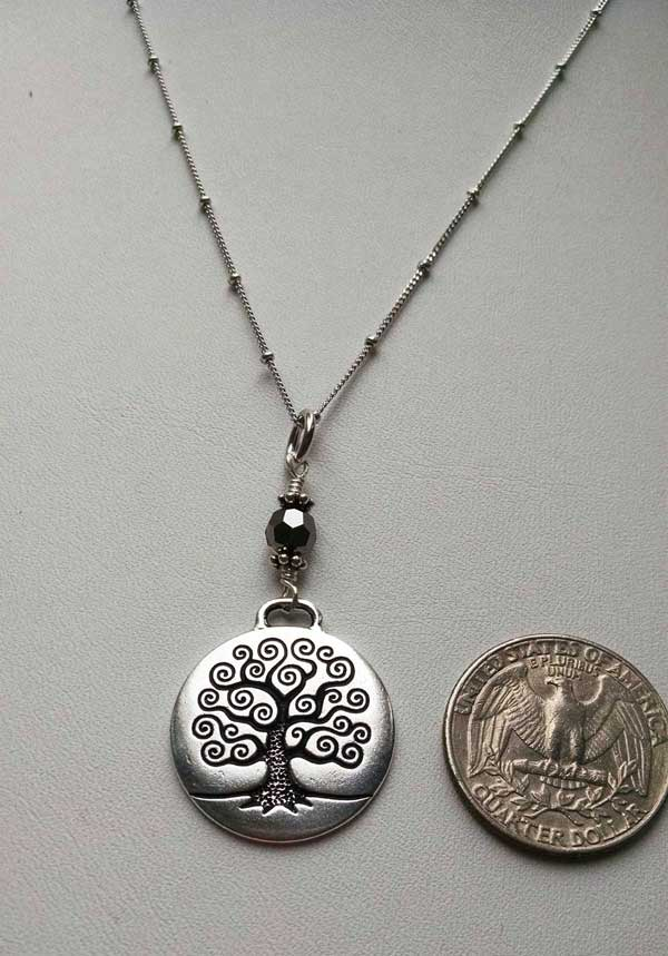 Tol pendant silver night crystal on beaded chain lori rae llc tol pendant silver aloadofball Image collections