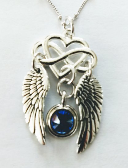 Image of Heart Wings necklace