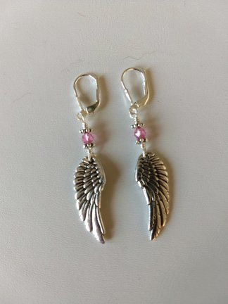 Wing earrings-Rose