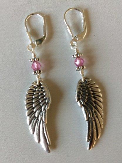 Wing earrings-Rose