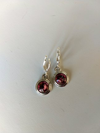 Birthstone earrings pink for October