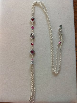 Geoframes Pinks combo necklace