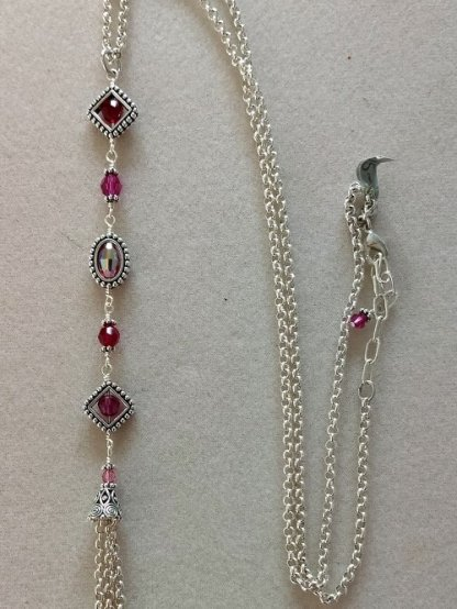 Geoframes Pink Combo necklace