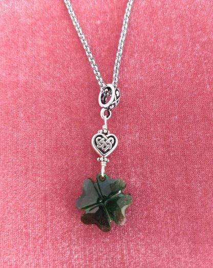 Swarovski Crystal clover pendant