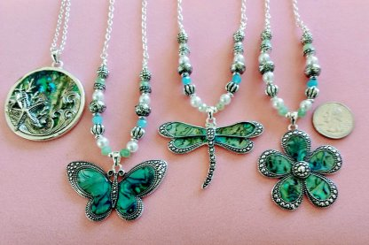 17-20 inch abalone necklaces