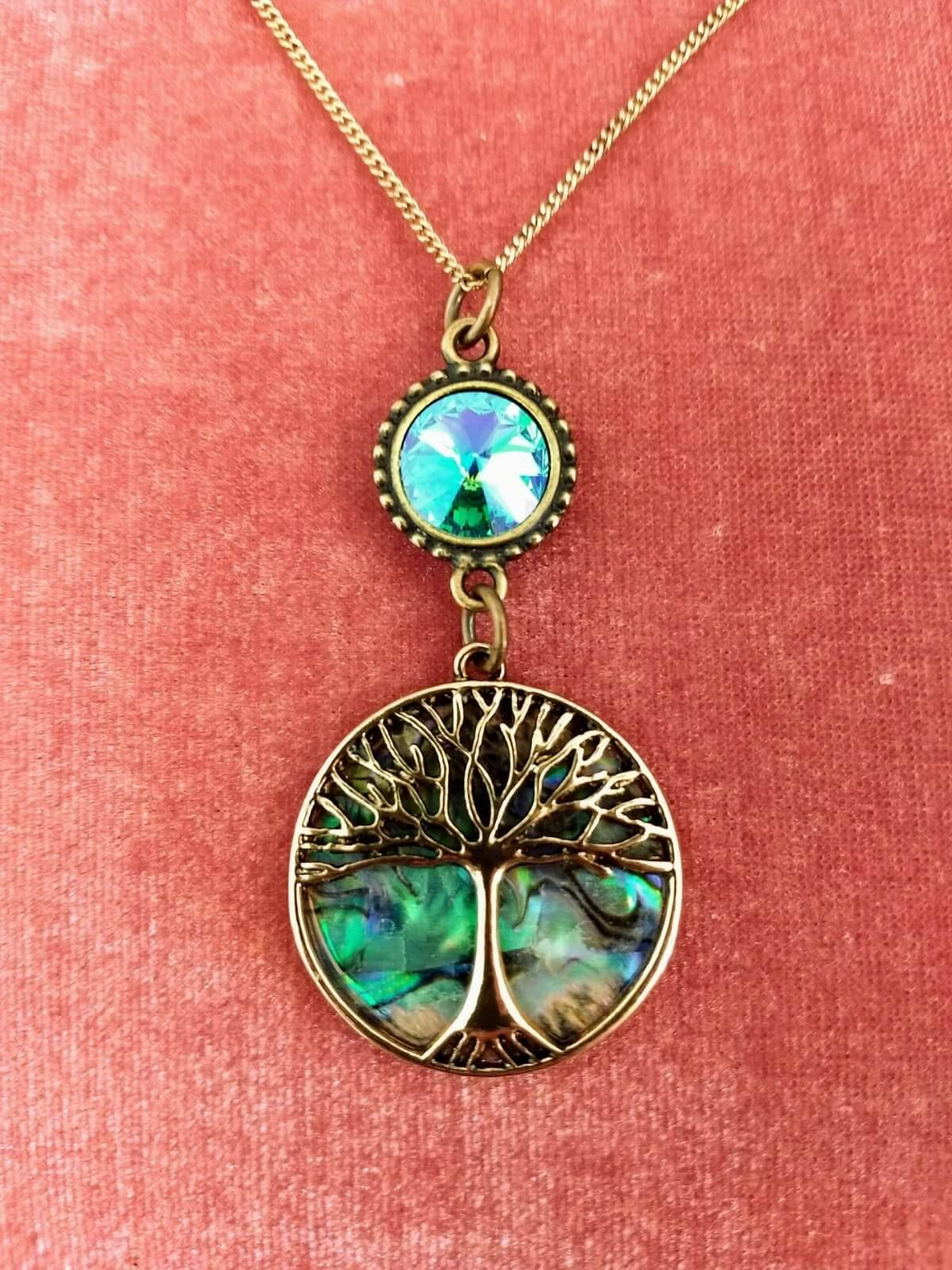 https://lorirae.com/wp-content/uploads/2020/05/Abalone-tree-of-Life-glacier-blue-necklace-gold-oxidized-1-scaled-e1588778230668.jpg