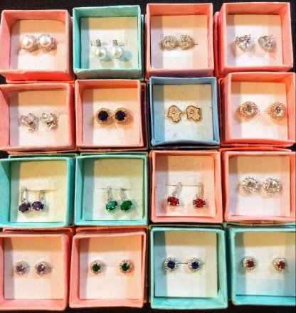 A Variety of Sterling Silver Studs