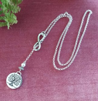 Tree of life infinity necklace
